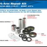 A-ARM BEARING & SEAL KIT