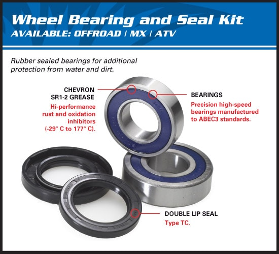 All Balls 25-1628 Wheel Bearing and Seal Kit POLARIS