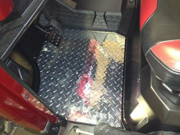 RANGER 900 DIAMOND PLATE FLOOR PLATE-2013+