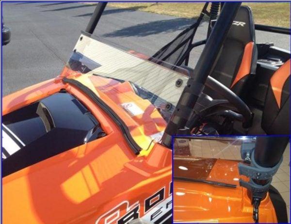 RZR Half Windshield with fast straps