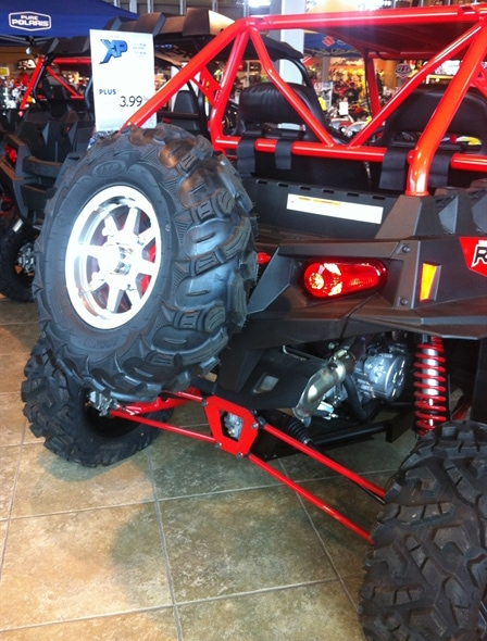 RZR XP 900 SPARE TIRE CARRIER - BLACK