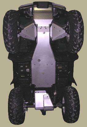 Honda Rubicon Complete Aluminum Skid Plate