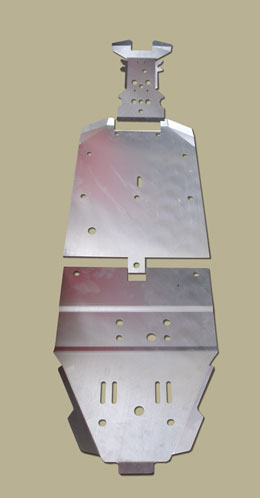 Polaris RZR 900 XP Center Skid Plate
