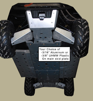 Ranger 800 Crew Full Aluminum Skid