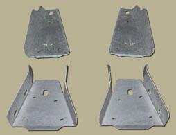 RICOCHET 4 PIECE A-ARM/CV GUARD SET - POLARIS RANGER 800/RANGER CREW