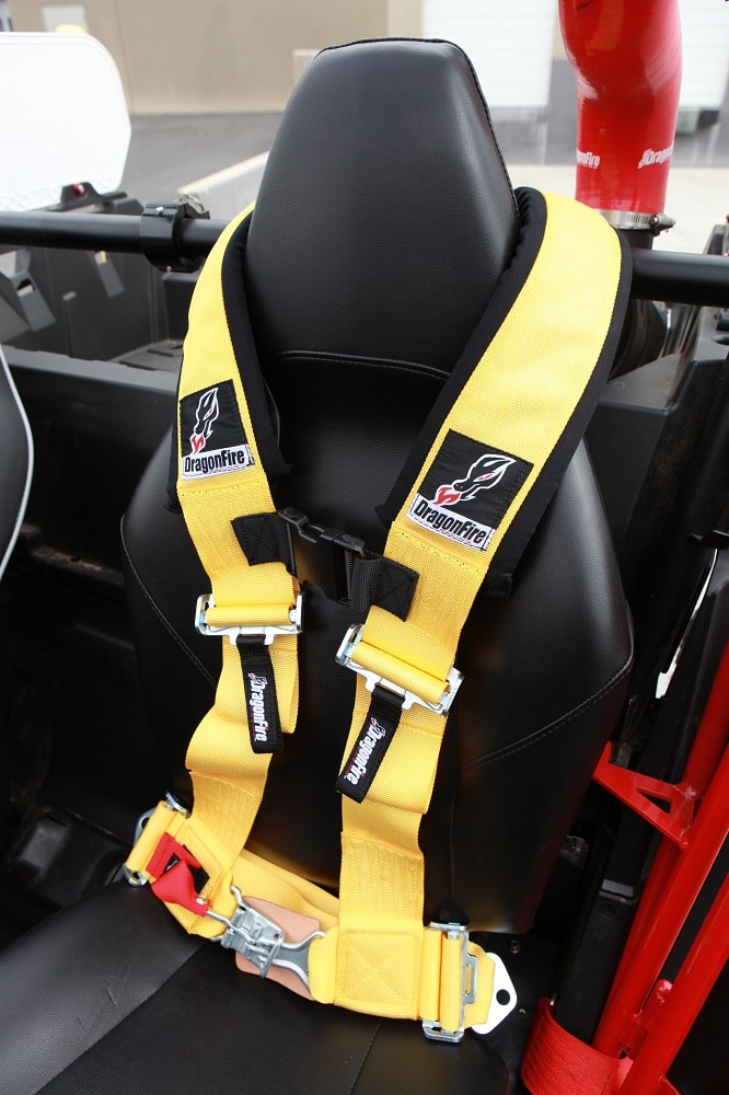 """DRAGONFIRE H-STYLE 4-POINT 3"""""""" HARNESS - PINK-4965"""