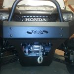 Pioneer Front Bumper Brush Guard with Winch Mount