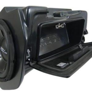 "POLARIS RZR XP 1000 / XP 4 1000 GLOVE BOX SUB BOX WITH 500 WATT 10"" WOOFER"