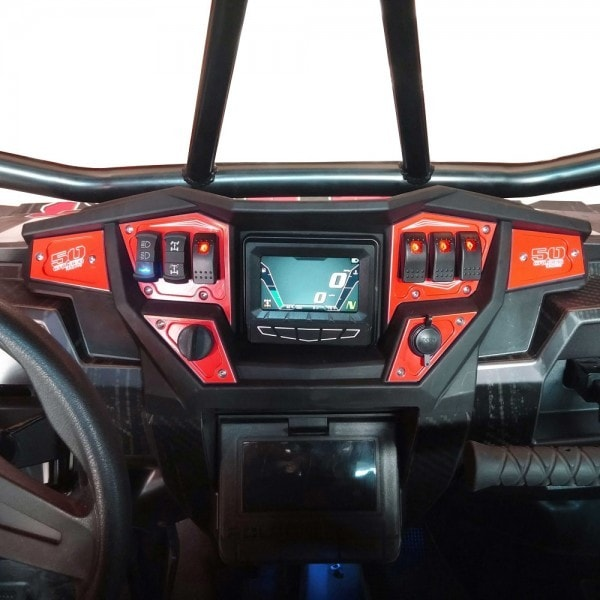 Rzr 1000 Dash Panel Digital Gps 6 Piece Amp Switches