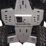 RICOCHET 2 PIECE CENTER SKID - SPORTSMAN 550/850