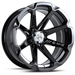 MSA WHEELS - M12 DIESEL RIM - GLOSS BLACK