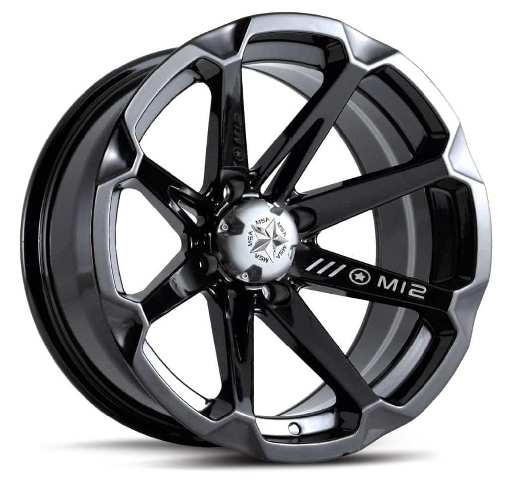 MSA WHEELS - M12 DIESEL RIM - GLOSS BLACK
