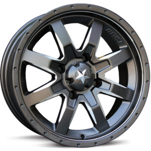 MSA WHEELS - M25 ROCKER RIM - MILLED SEMIGLOSS