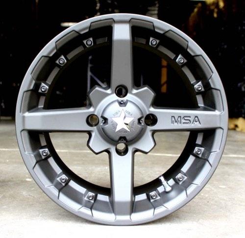 MSA WHEELS - M23 BATTLE RIM - FLAT BLACK - VARIOUS SIZES/BOLT PATTERNS AVAILABLE