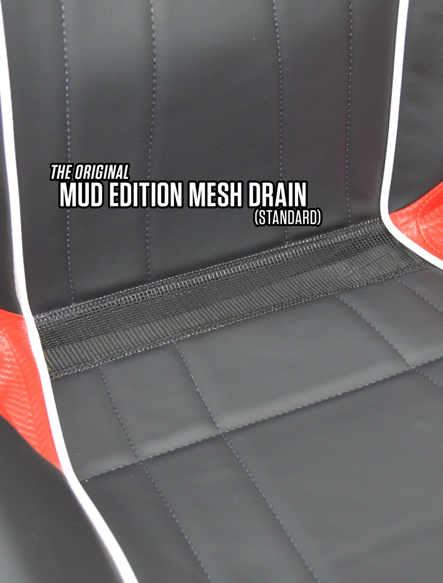 GT MUD RZR 1K SEAT-BLK/ORN (GT S.E.TITANIUM MATTE METALLIC) W/ ON/OFF HEATER