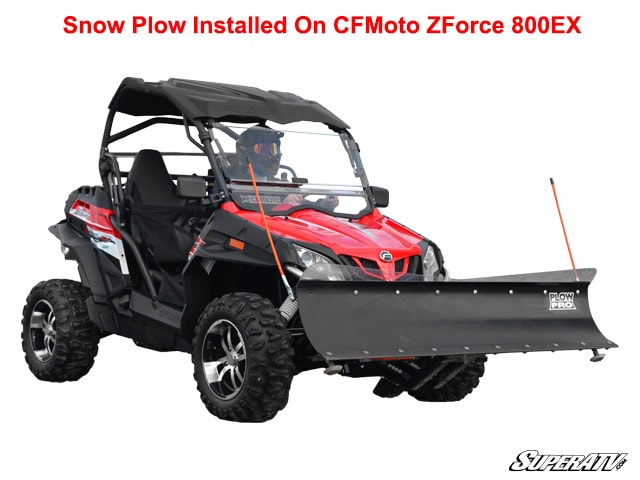 """CF MOTO ZFORCE 800EX SNOW PLOW KIT-INCLUDES 60"""" BLADE, PUSH TUBE AND MOUNT"""