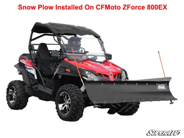 "CF MOTO ZFORCE 800EX SNOW PLOW KIT-INCLUDES 72"" BLADE, PUSH TUBE AND MOUNT"