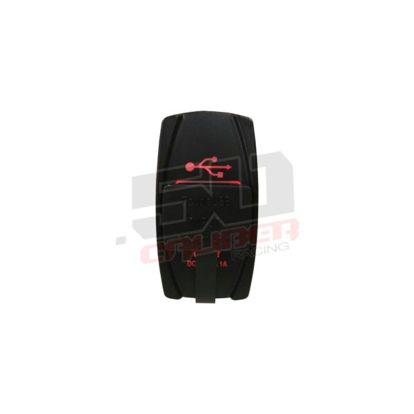 DUAL USB ILLUMINATED ROCKER SWITCH