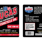 LUCAS OIL SYNTHETIC SAE 10W-40 MOLY MOTORCYCLE OIL /6x1/ Quart/946 mL