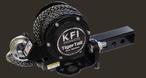 KFI TIGERTAIL 15' REPLACEMENT ROPE - BLACK-0