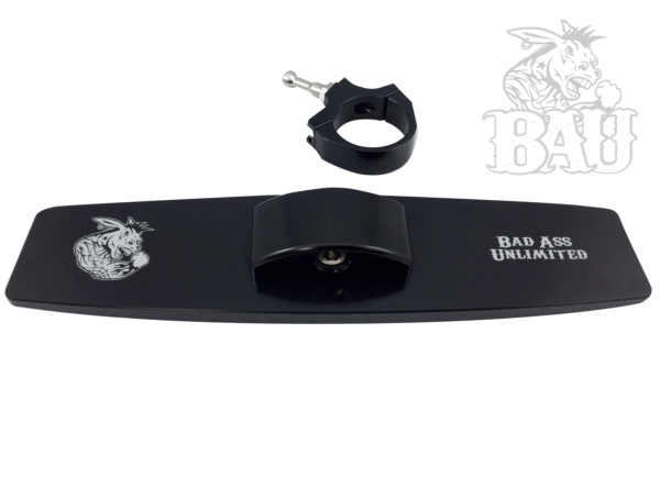 """BAD ASS REAR VIEW MIRROR WITH 2.0"""""""" CLAMP - BLACK-14121"""