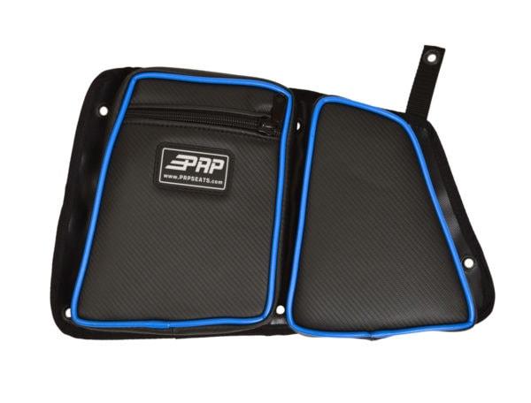 PRP SEATS STOCK REAR DOOR BAG WITH KNEE PAD PASSENGER'S SIDE POLARIS RZR XP 1000/S 900 - BLACK-14288