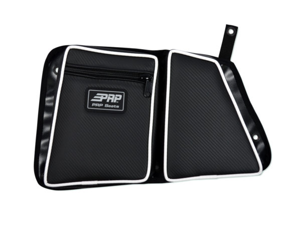 PRP SEATS STOCK REAR DOOR BAG WITH KNEE PAD DRIVER'S SIDE POLARIS RZR XP 1000/S 900 - BLACK-0