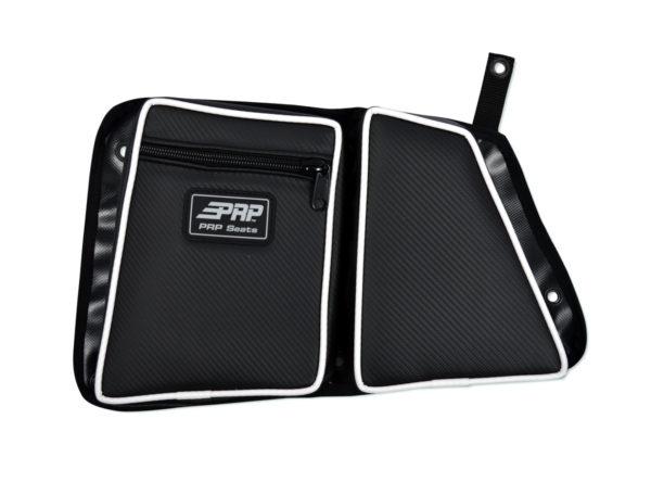 PRP SEATS STOCK REAR DOOR BAG WITH KNEE PAD PASSENGER'S SIDE POLARIS RZR XP 1000/S 900 - BLACK-0
