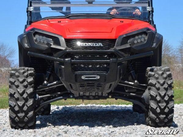 "SUPER ATV HIGH CLEARANCE 1.5"""" FORWARD OFFSET A-ARMS HONDA PIONEER 1000 - BLACK-14423"