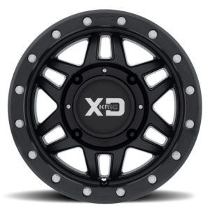 "KMC WHEELS XS 228 MACHETE BEADLOCK WHEEL 14"""" 4/110 +10MM - FLAT BLACK-0"