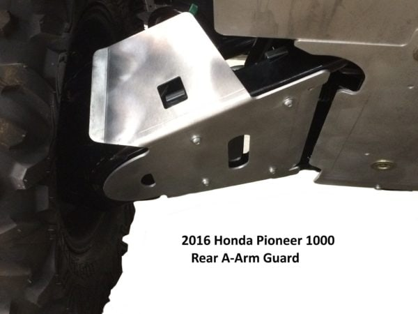 RICOCHET FRONT AND REAR A-ARMGUARDS 4 PIECES HONDA PIONEER 1000 - ALUMINUM-14726