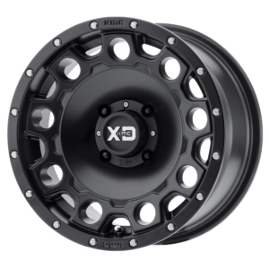 "KMC WHEELS XS 129 HOLESHOT WHEEL 14"""" 4/110 +10MM - FLAT BLACK-0"