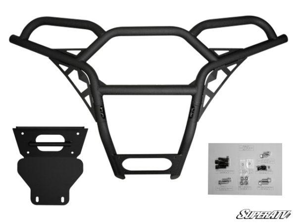 SUPER ATV FRONT BUMPER POLARIS RZR 570/800/900 - BLACK-0