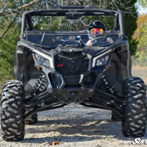 SUPER ATV HALF WINDSHIELD SCRATCH RESISTANT CAN-AM MAVERICK X3 - CLEAR-0