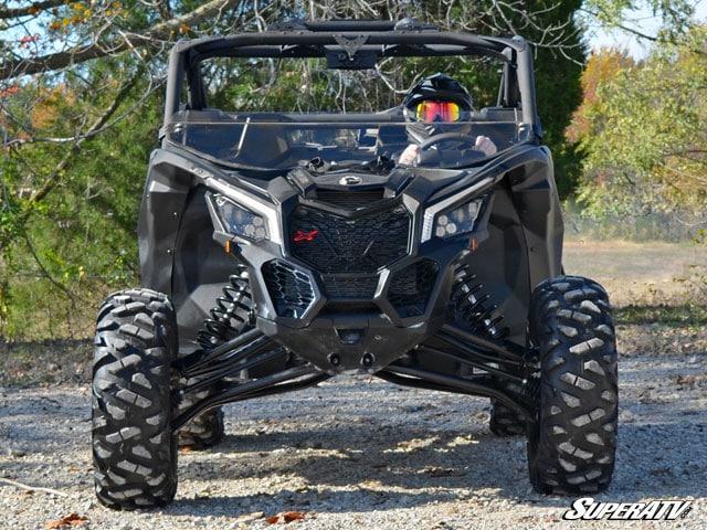 SUPER ATV HALF WINDSHIELD SCRATCH RESISTANT CAN-AM MAVERICK X3 - CLEAR-0