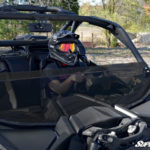 SUPER ATV HALF WINDSHIELD SCRATCH RESISTANT CAN-AM MAVERICK X3 - TINTED-14973