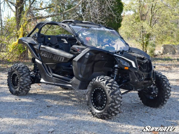 SUPER ATV FULL WINDSHIELD SCRATCH RESISTANT CAN-AM MAVERICK X3 - CLEAR-14989