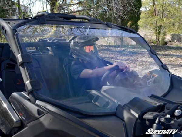 SUPER ATV FULL WINDSHIELD SCRATCH RESISTANT CAN-AM MAVERICK X3 - CLEAR-14987
