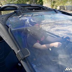 SUPER ATV FULL WINDSHIELD SCRATCH RESISTANT CAN-AM MAVERICK X3 - CLEAR-0