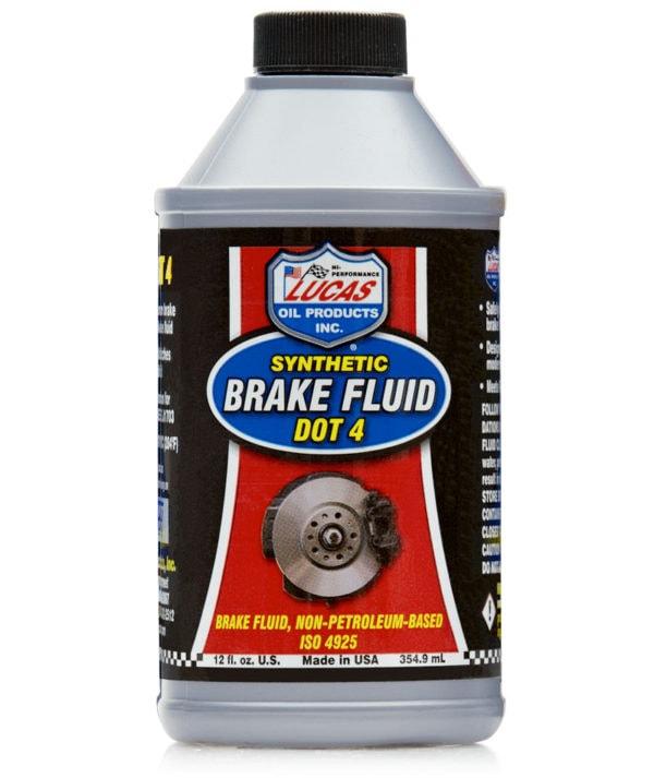 LUCAS OIL SYNTHETIC BRAKE FLUID DOT 4 - 12OZ/355ML-0
