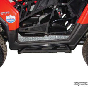 SUPER ATV ROCK SLIDING NERF BARS POLARIS RZR - BLACK-0
