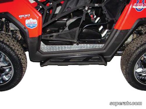 SUPER ATV ROCK SLIDING NERF BARS POLARIS RZR - BLACK-0