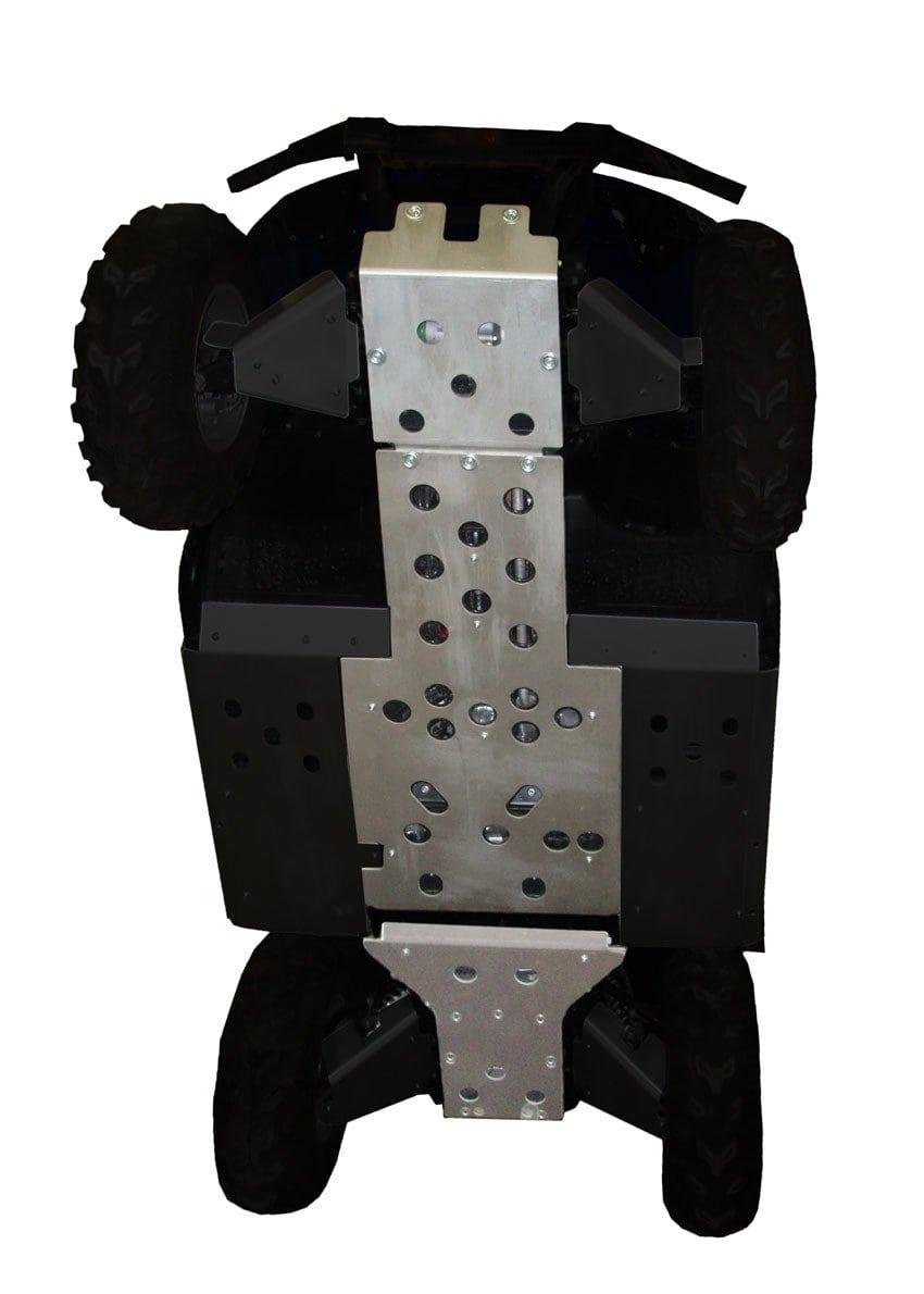 RICOCHET SKID PLATE CENTRE FRAME 3 PIECES YAMAHA RHINO 450/660 2006-2010 - ALUMINUM BLACK-0
