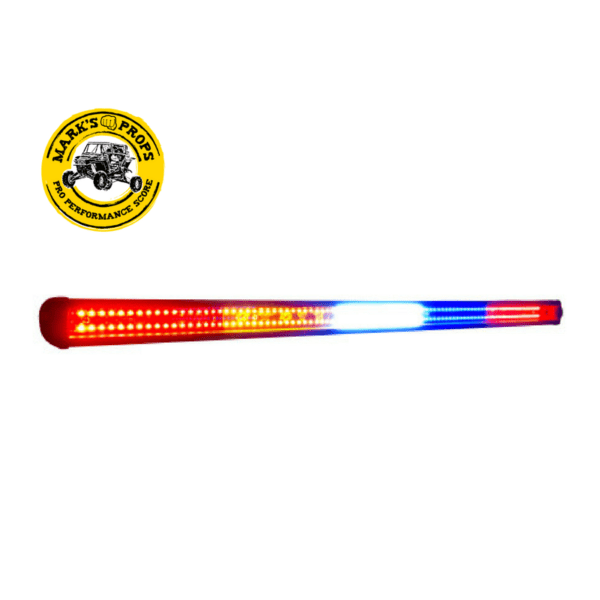 STAR LIGHT BARS 34.75 LED REAR LIGHT BAR AMBER BLUE FLASH WHITE CARGO INTEGRATED BRAKE LIGHTS_SLB-GX-WR-1018K_Marks Props