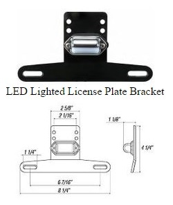 LED LIGHTED LICENSE PLATE BRACKET