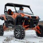 """SUPER ATV 7""""""""-10"""""""" LIFT KIT POLARIS GENERAL - BLACK-15412"""