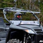 SUPER ATV FLIP WINDSHIELD SCRATCH RESISTANT ARCTIC CAT WILDCAT TRAIL-15528