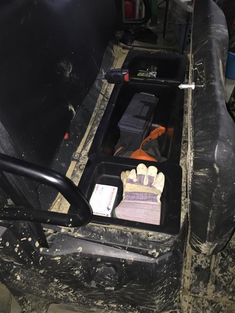 EMP UNDER SEAT STORAGE BIN SET POLARIS RANGER MIDSIZE -15573