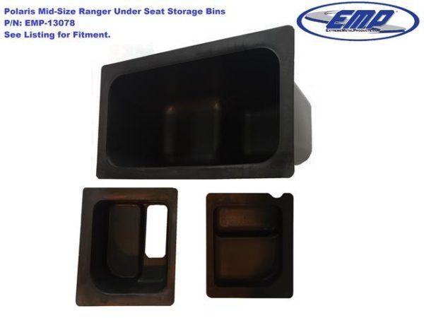 EMP UNDER SEAT STORAGE BIN SET POLARIS RANGER MIDSIZE -15569
