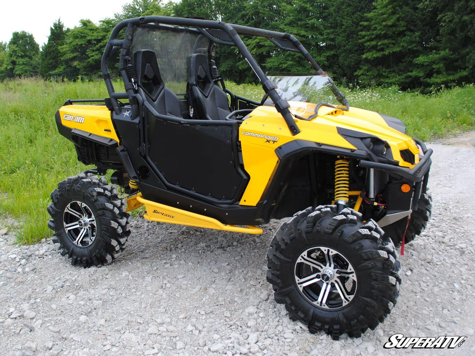 SUPER ATV NERF BARS CAN-AM COMMANDER - YELLOW-0